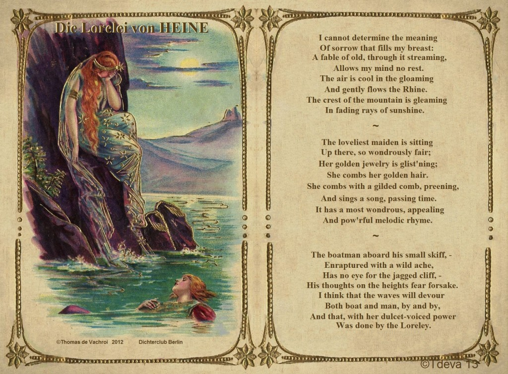 Die Lorelei von HEINE – in englischer Übersetzung