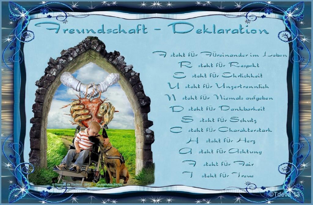 Freundschaft Deklaration