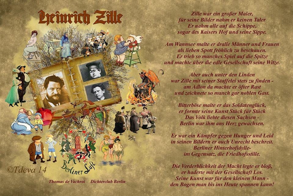 Grusskarte und Gedicht  Thomas de Vachroi
