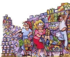 Regale Supermarkt