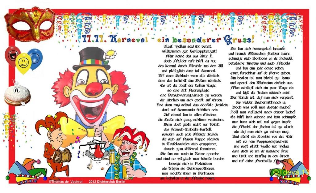 11.11. Karneval - ein besonderer Gruss!