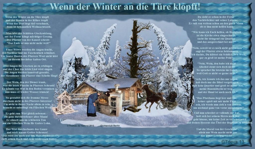 Wenn der Winter an die Türe klopft!