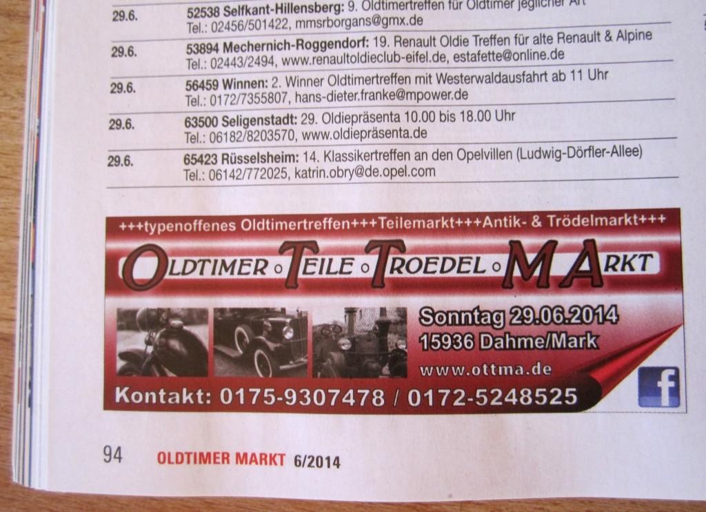 Oldtimer und Troedelmarkt in Dahme/Mark