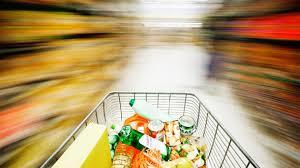 Supermarktgedränge