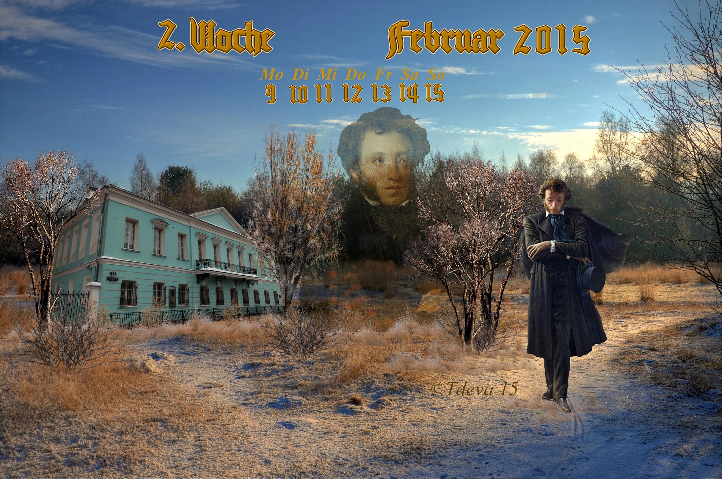 Am 10.Februar starb 1837 der größte russische Schriftsteller Alexander Puschkin im Alter von 37 Jahren. Ein ganz Großer der Literatur.